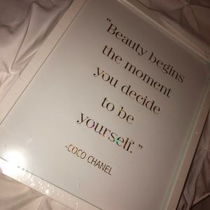 COCO Chanel Quote Wall Art